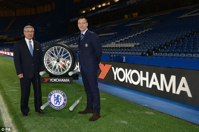 Chelsea revealed their club record sponsorship deal with The Yokohama Rubber Company on Thursday
