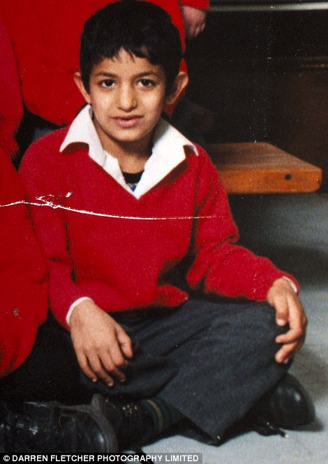 Life's ambitions: As a ten-year-old Mohammed Emwazi set out his dreams and passions in his school year book and said he loved chips and TV and dreamt of being a football star