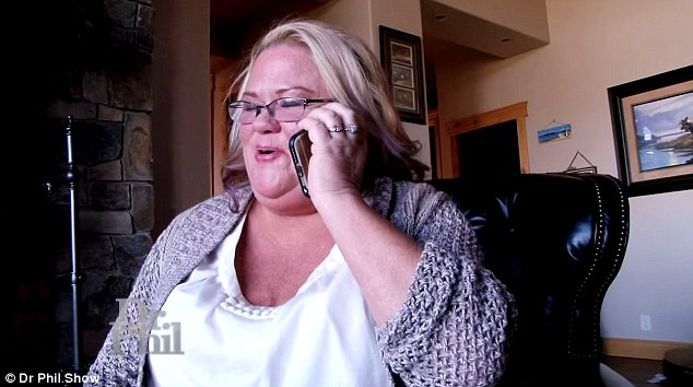 Romance: She claims they speak for hours on the phone and though his accent has changed from Italian to African she has not wavered in her belief that he loves her