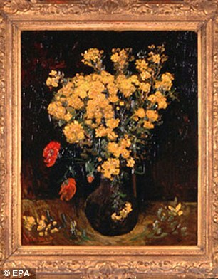 Van Gogh's $50 million'Poppy Flowers', which features red and yellow flowers, was stolen from Cairo's Mohammed Mahmoud Khalil Museum in 2010