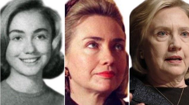 Time lapse shows Hillary Clinton aging from teenager to 67