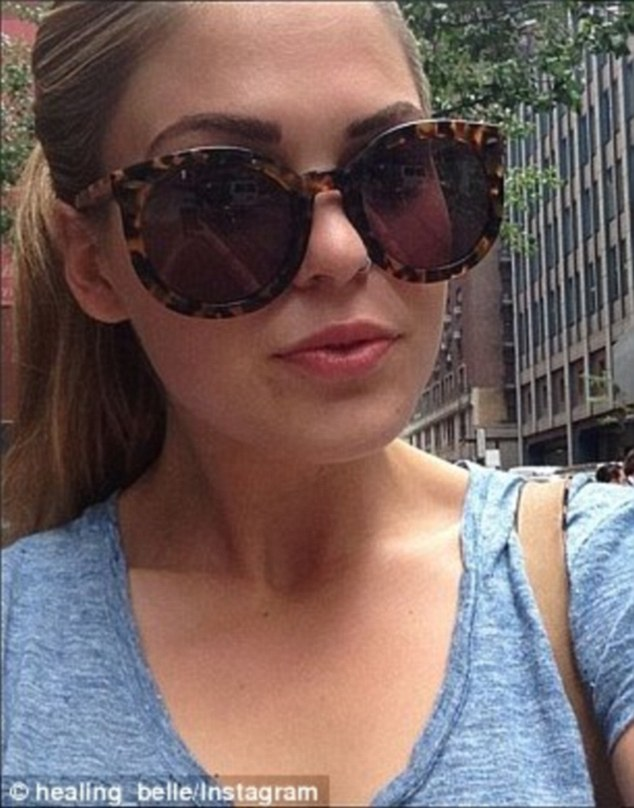 Ms Smith said of Belle Gibson (above): 'If I saw Belle now, I would just ask her to tell the truth. That's all I want'