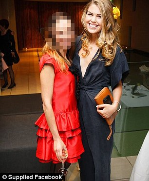 Doting mother: Ms Gibson, pictured with another friend, founded the popular app and cookbook Whole Pantry