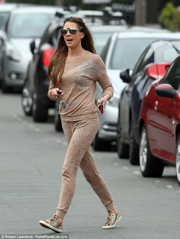 Danielle Lloyd Steps Out In Diamante Embellished Nude