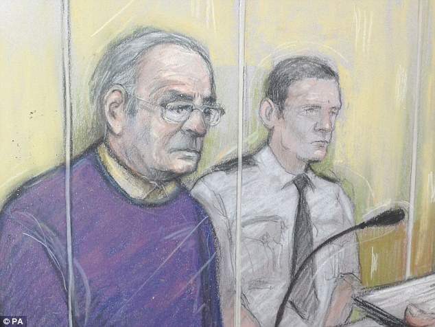 Talbot sat in the dock wearing a purple jumper and grey trousers and was unemotional when sentenced