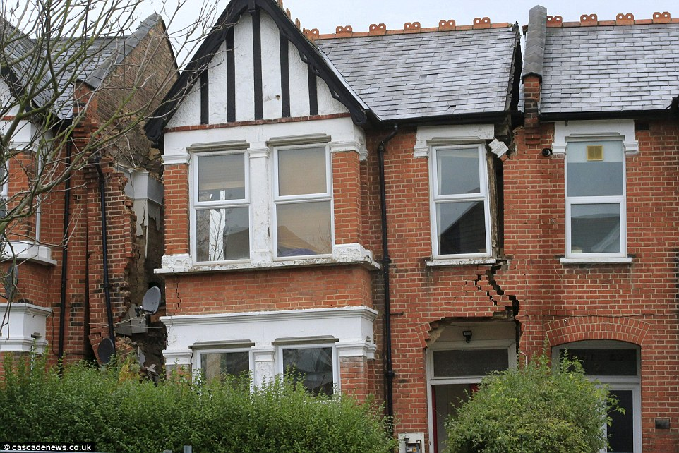 They had hoped to create a roomy two-storey family home but the whole property suffered a terrifying structural collapse - effectively splitting in half - following a botched basement conversion