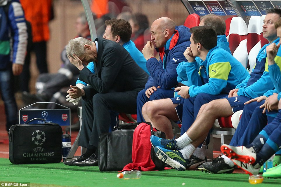 Arsene Wenger saw his Arsenal side crash out of the Champions League despite a 2-0 win over Monaco