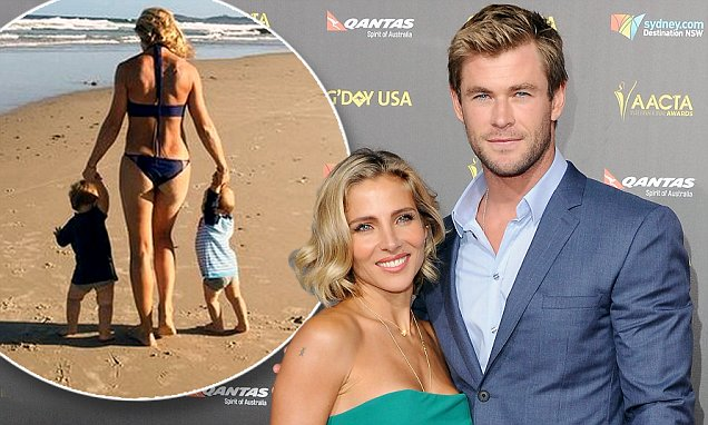 Chris Hemsworths Wife Elsa Pataky Wishes Sons Tristan And Sacha Happy Birthday Daily Mail Online