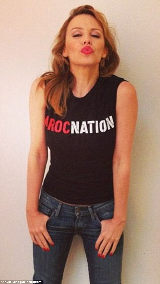 Exciting times: Kylie announced her move to Roc Nation two years ago with a pouting Instagram photo