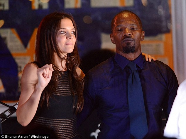 Image result for katie holmes and jamie foxx holding hands