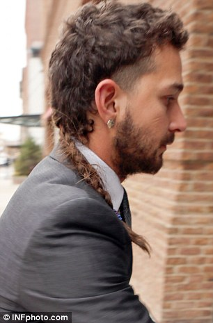 Shia LaBeouf Cleans Up But Keeps The Rat Tail And Eyebrow