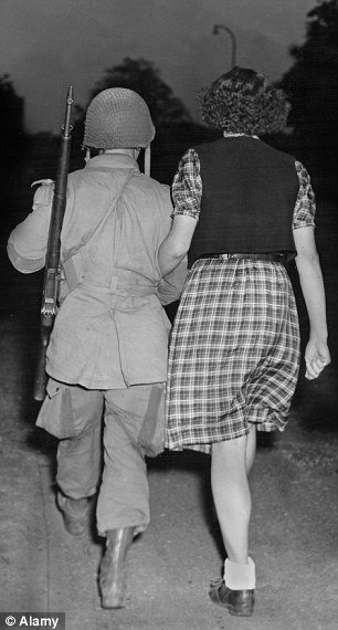 There were rules against Allied soldiers fraternising with civilian women during the Second World War but they were routinely ignored