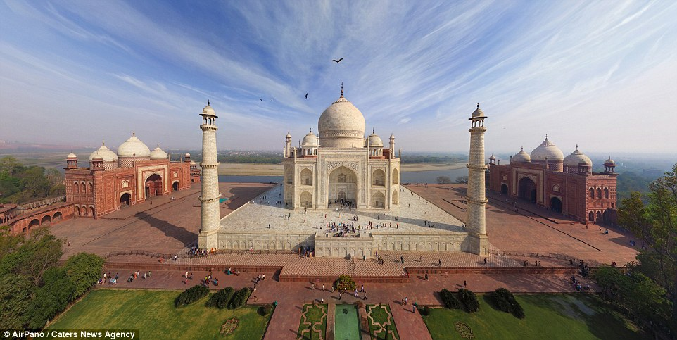 See the Taj Mahal from a new angle! The Indian landmark has been captured many times before, but the team took a new perspective