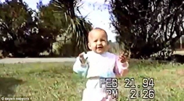 A still from footage of baby Savanna before her kidnapping by her mother, who was only allowed supervised acess to her daughter aftera court case in which Benjamin Todd III alleged Barnett was bipolar