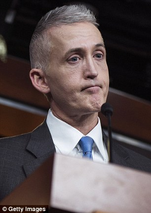 The claims were made by Benghazi committee chairman Trey Gowdy (pictured) on Friday night