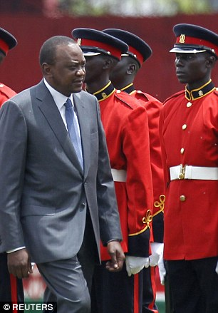 Face-off: Kenyan President Uhuru Kenyatta has met Philip Hammond