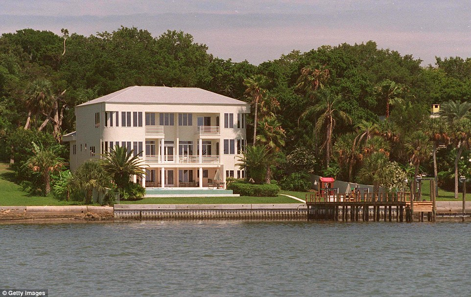 Kirstie Alley's waterfront mansion in Clearwater. Alley's company bought it in 2000 from fellow Scientologist Lisa Marie Presley for $1.5 million