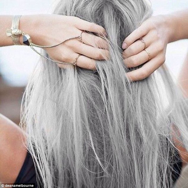 One Instagrammer @deanamelbourne posted this shot of thick grey locks online and received lots of 'likes' from followers