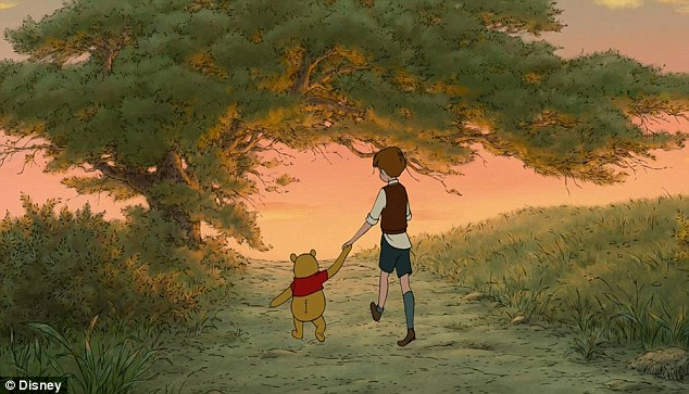 Image result for winnie the pooh holding hand christopher robin