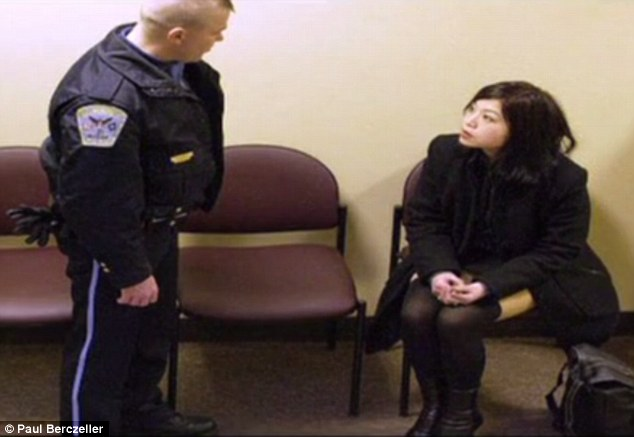 A scene from This is a True story. Officer Jessie Heliman actually spoke with the real Takako before she died