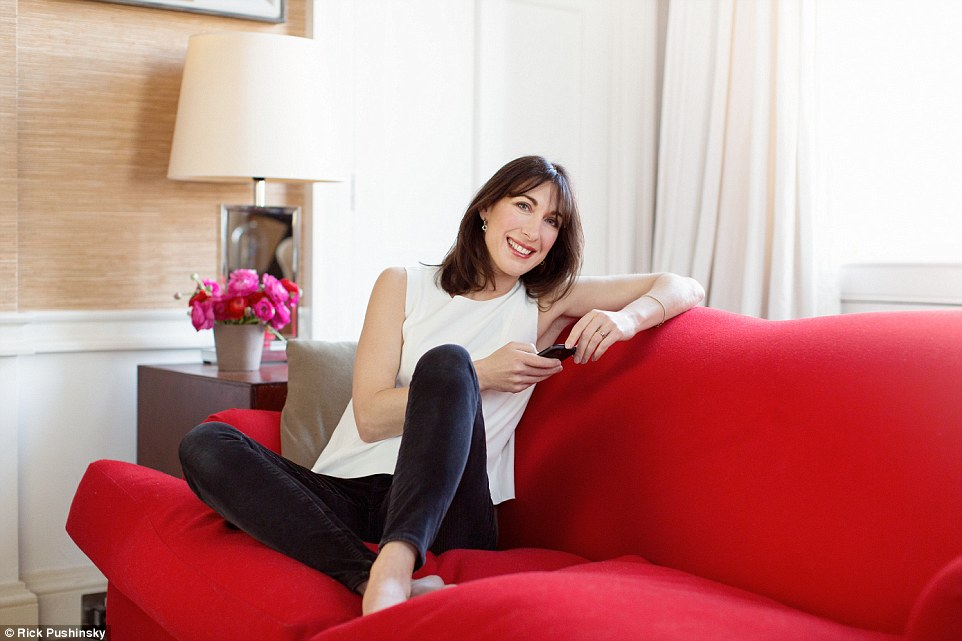 Samantha Cameron said her husband deserves five more years at Number 10 because he has ,turned the economy round and created a safe environment for everyone'