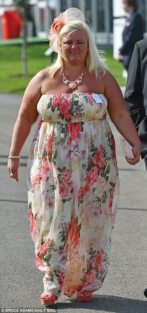 Full length: Floor-length dresses in summery floral print also proved a hit, with many ladies teaming them with summery sandals
