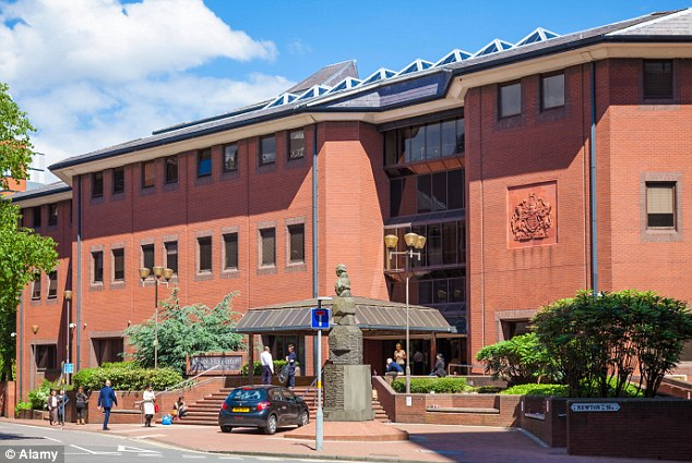 Birmingham Crown Court (pictured) heard how Uddin attached a 'shadowing' keyboard device at the back of a number of university computers in order to steal staff passwords