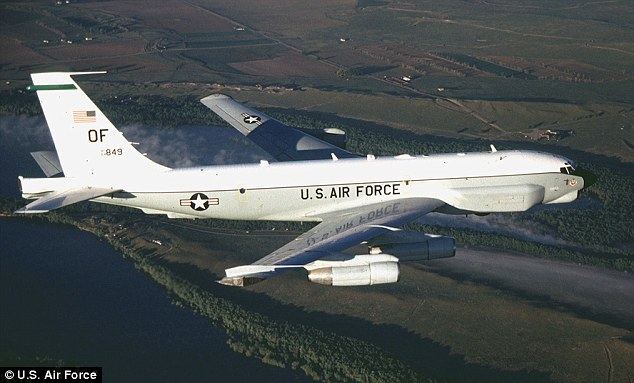 A Russian jet 'aggressively' intercepted a U.S. RC-135U plane (pictured) over Poland, the Pentagon claims