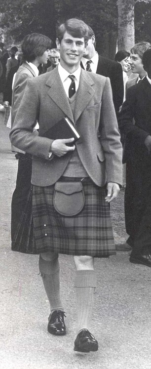 Prince Edward was head boy at Gordonstoun in 1982