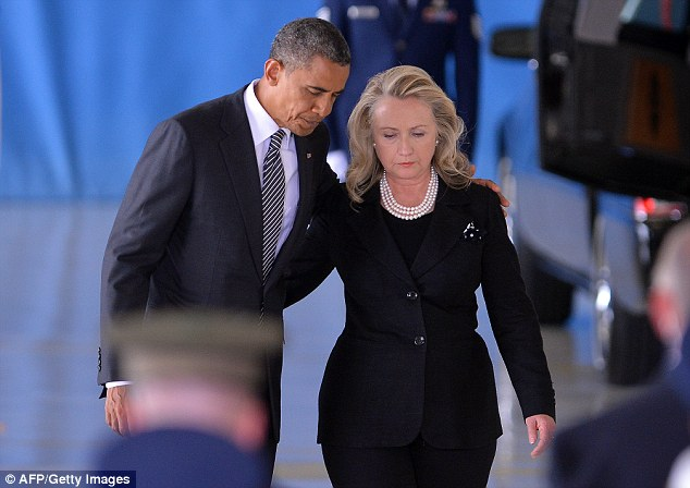 BAGGAGE: Mrs. Clinton's time in the Obama administration may be her albatross, including her stewardship of the State Department before, during and after the 2012 terror attacks in Benghazi, Libya