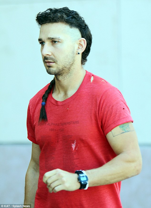 Shia LaBeouf Adds To His Mohawk Hairstyle As He Gets The