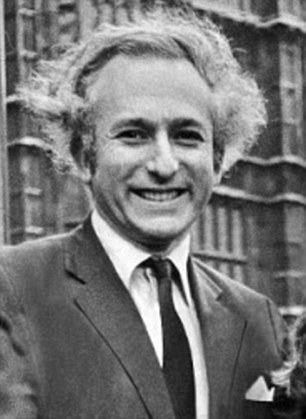 Probes: Greville Janner pictured outside Parliament in 1974, served as an MP for decades and was investigated in 1991, 2002 and 2007