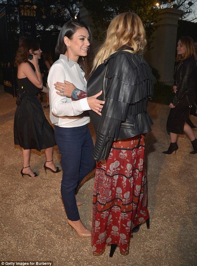 Amigos de moda: Mila e Rachel Zoe teve uma corrida amigável em no evento