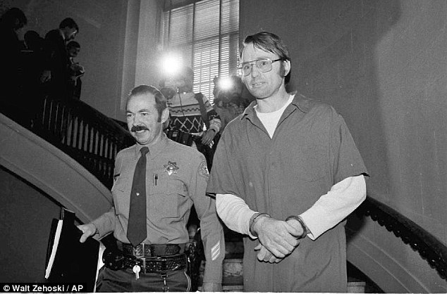 Despite Hooker's (pictured in 1984) century-long jail term, he had qualified for a new prison program which allowed him to request parole seven years earlier than under the normal rules