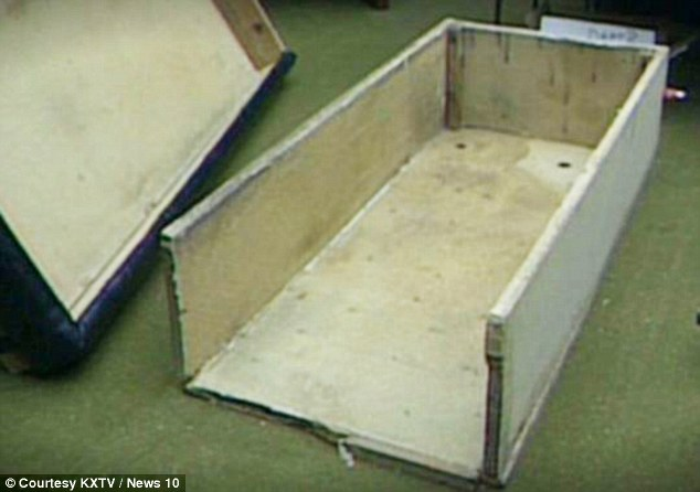 The Coffin-like box in which Colleen was held for up to 23-hours a day under Hooker and his wife's bed