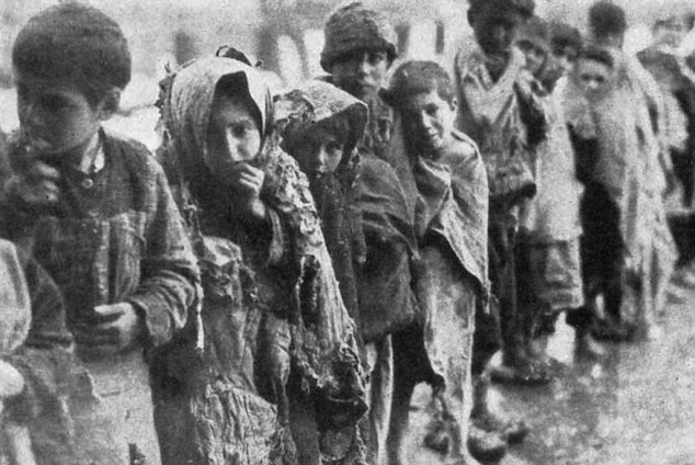 Armenian children caught up in the 1915 genocide which modern Turkey still refuses to acknowledge