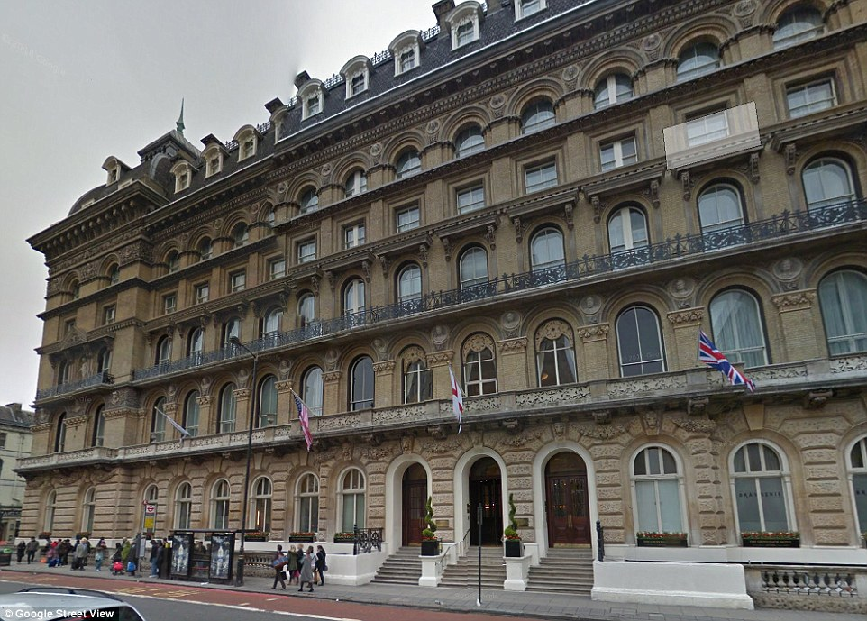 Grosvenor Hotel (pictured) have said: 'The room booking was made online and hotel staff were unaware of the nature of the meeting'