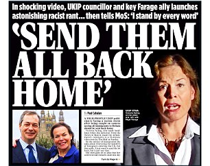 Controversy:Victoria Ayling on front page of Mail on Sunday