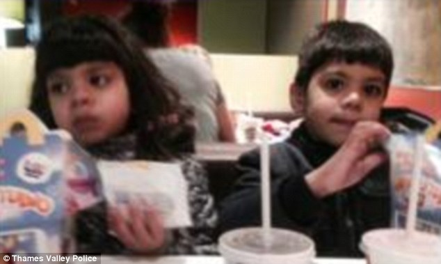 Zoha Malik (left), seven, and Essa Malik (right), four, are among the family's four children who are missing