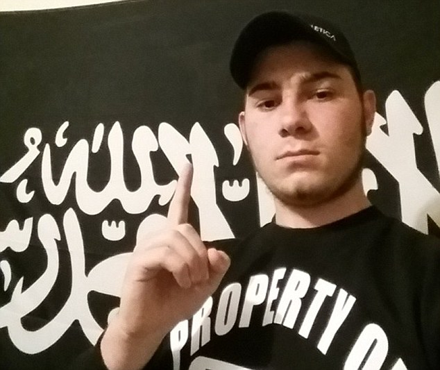Attack: Sevdet Besim, pictured, has been charged with planning an attack in Melbourne on Anzac Day