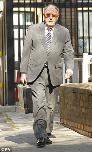 On trial: Former Ukip MEP Ashley Mote (pictured arriving at London's Southwark Crown Court today) is accused of a string of fraud-related offences