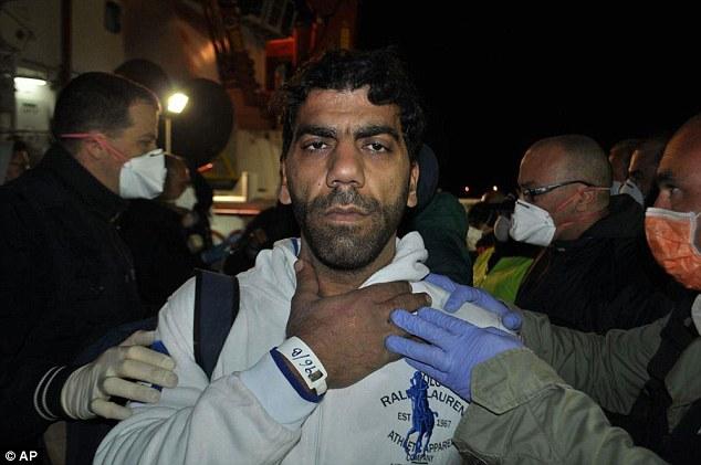 Haj Slima Moustafa también fue detenido después de que el yate - lleno de inmigrantes sirios y palestinos que pagaron $ 8,500 cada uno para el viaje - llamados en busca de ayuda cuando se acercaba a la costa