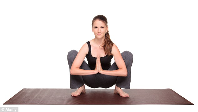 Squat it like it's hot: The Malasana pose is sure to stretch out the groin