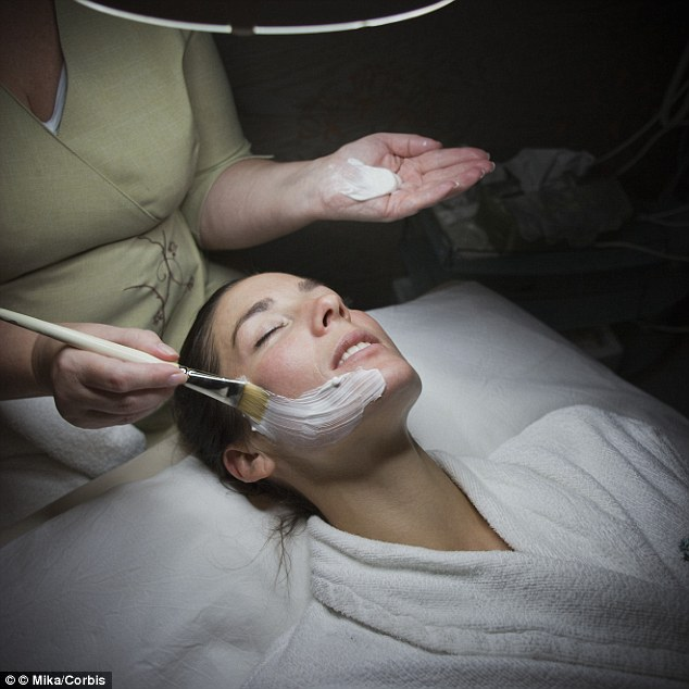 Foreskin facials, also known as HydraFacials, are the latest unconventional beauty treatment to be hitting salons in New York (stock image)