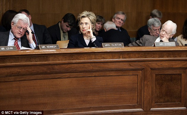 Then-senator Hillary Clinton listens to a briefing from the Committee on Foreign Investment in the United States, the organization where she would later help approve Russia's purchase of US uranium assets