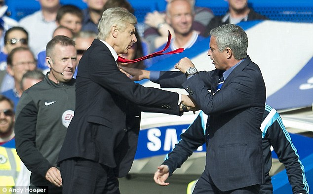 Arsene Wenger (left) and Mourinho have over a decade of history in the Premier League