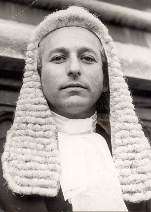 Lord Janner (pictured after being sworn in as a Queen's Counsel in 1971) worked at Garden Court Chambers from the mid-1950s until 1986
