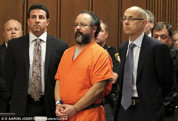 In chains: Ariel Castro killed himself in prison in September 2013 after being sentenced to life in prison plus 1,000 years for abducting the three women and holding them captive in his Ohio home