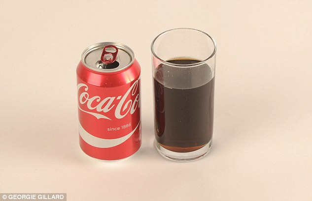 Fizzy drink fans will be disappointed that just three quarters of a can of Coca Cola is 100 calories