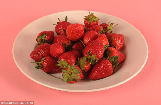 An entire plate of 27 strawberries contains just 100 calories